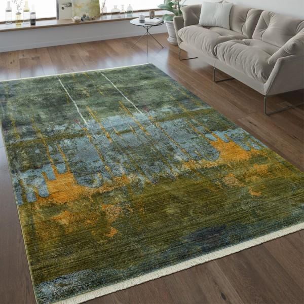 Vintage Teppich Abstraktes Design Multicolor
