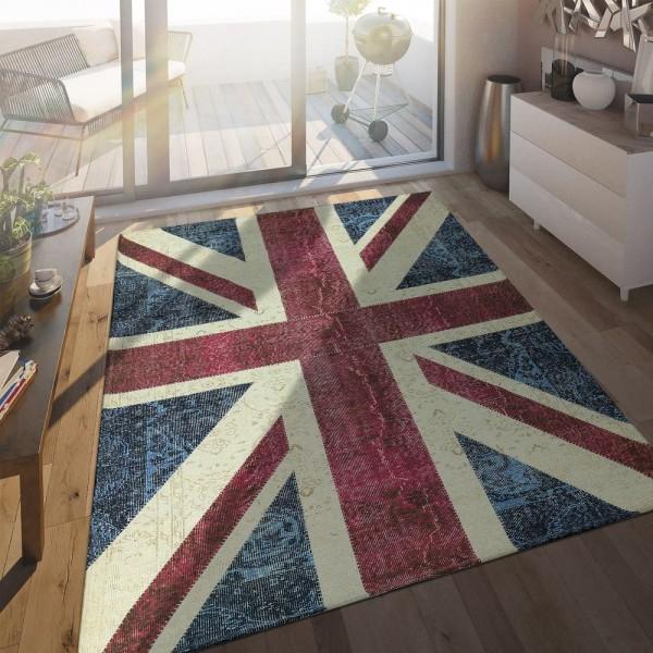Flachgewebe Teppich Englische Flagge