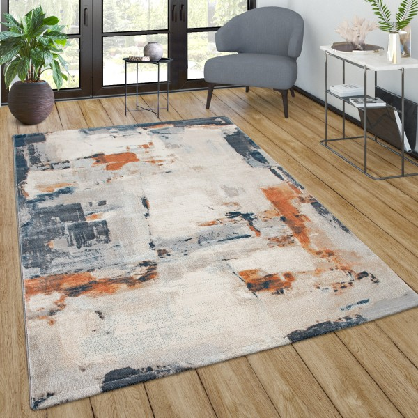 Large Rug Vintage Pattern Colour Gradient