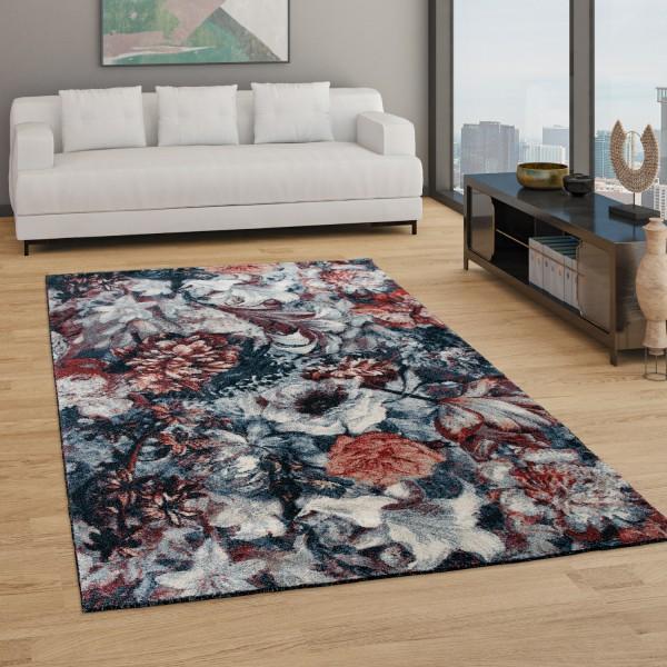 Living Room Rug Boho Design Floral Pattern