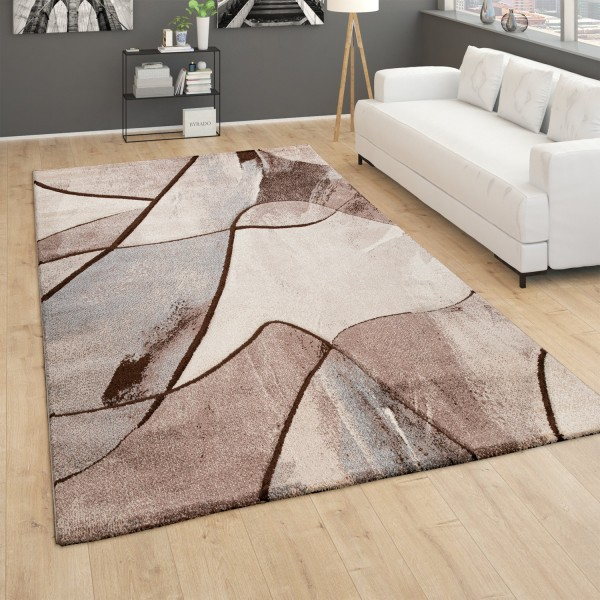 Large Rug Modern Short Pile 3D Effect