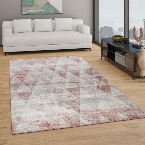 Living Room Rug Boho Geometric Diamond Pattern