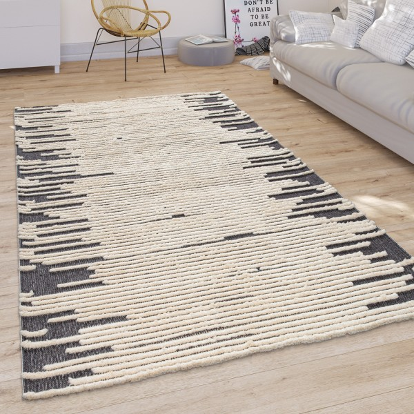 Living Room Rug Scandi Cut-Out Pattern